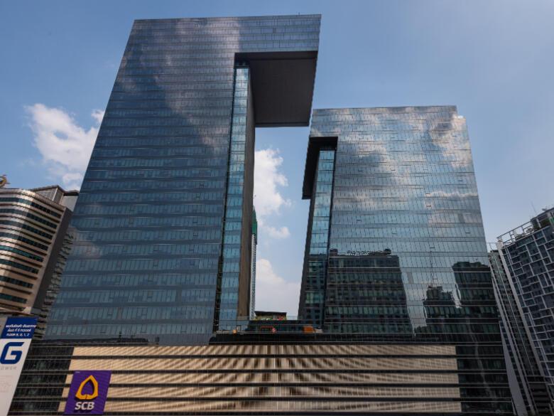 Exterior view of G-shaped Tower near Maitria Hotel Rama 9 Bangkok