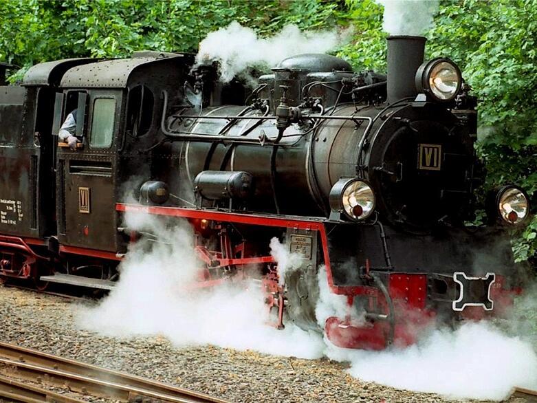 Vulkan Express railway near hotel Am Martinsberg