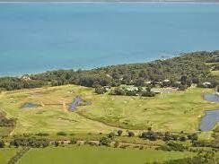 Aerial view of Phillip Island Golf Club near Silverwater Resort