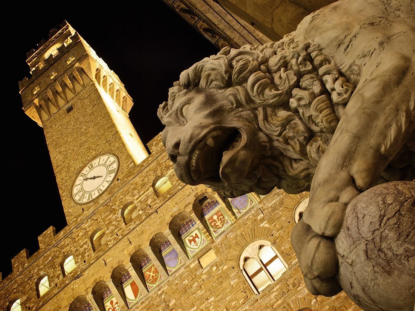 Statue near the building at Grand Hotel Minerva
