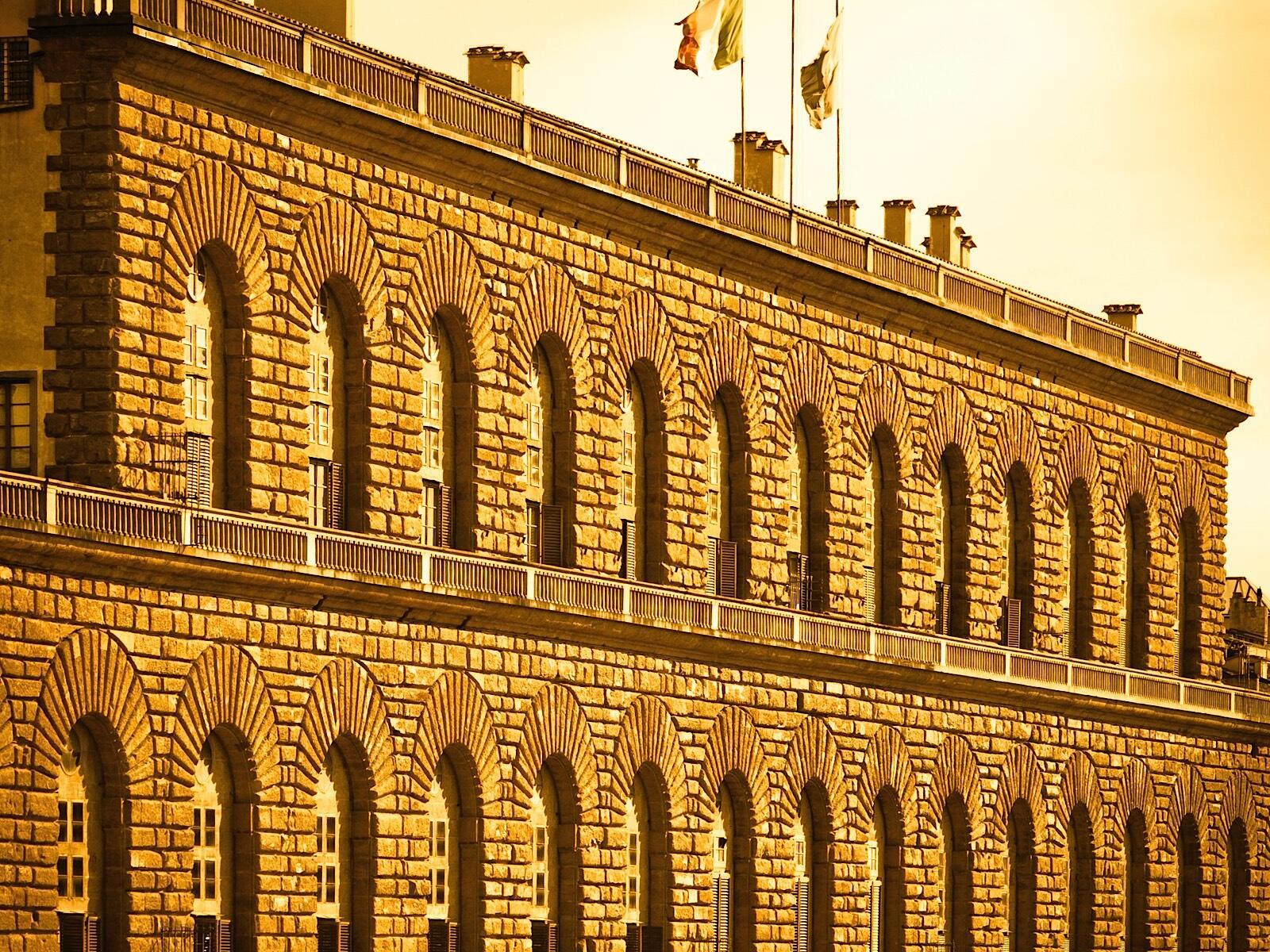 A big building at Grand Hotel Minerva