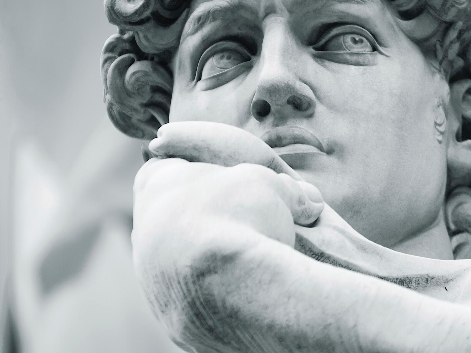 A famous Statue  at Grand Hotel Minerva