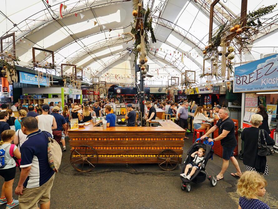 Indoor Fremantle Market with people near Be Fremantle