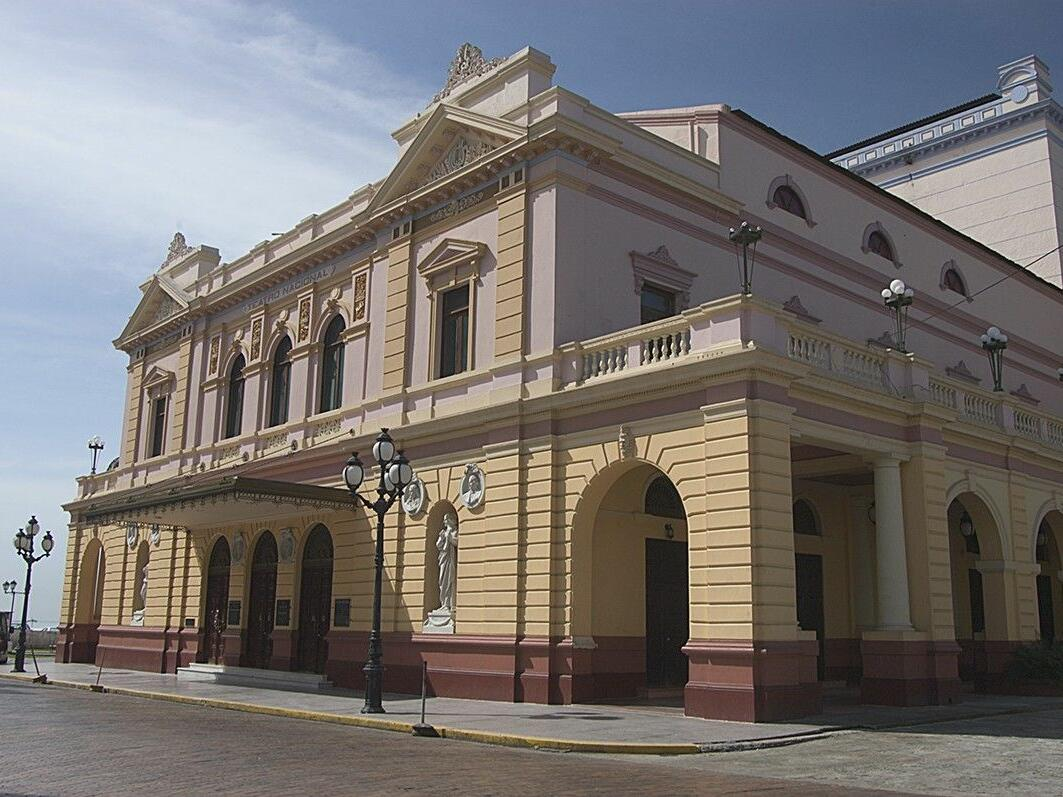 Exterior view of the Presidential Palace in Panama