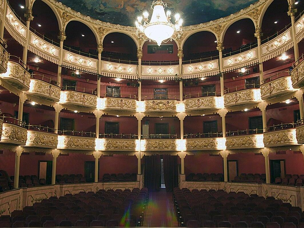 Interior view of the National Theater in Panama