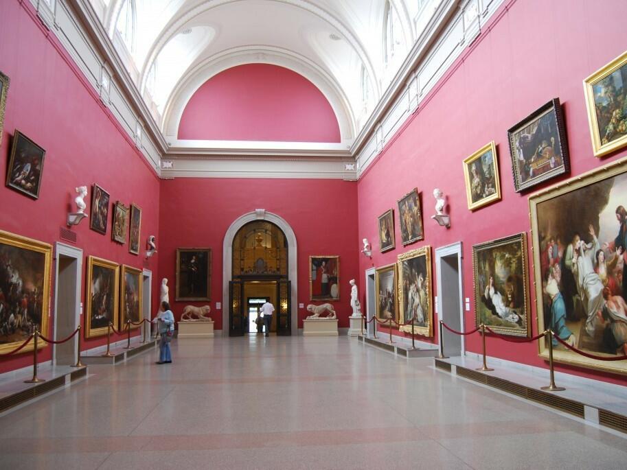 Interior view of Wadsworth Atheneum near Simsbury 1820 House