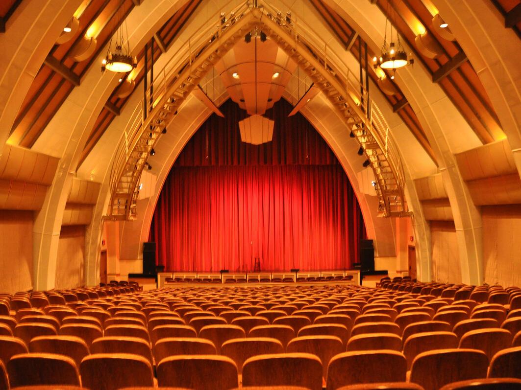 Interior view of Sunset Center Auditorium near Tally Ho Inn
