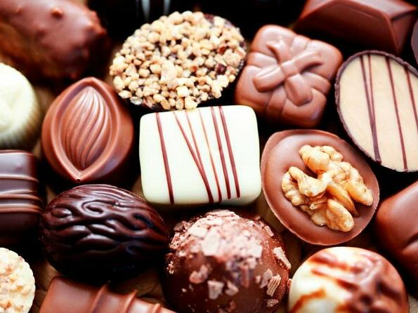 Chocolates at Haigh's Chocolate Visitor Centre
