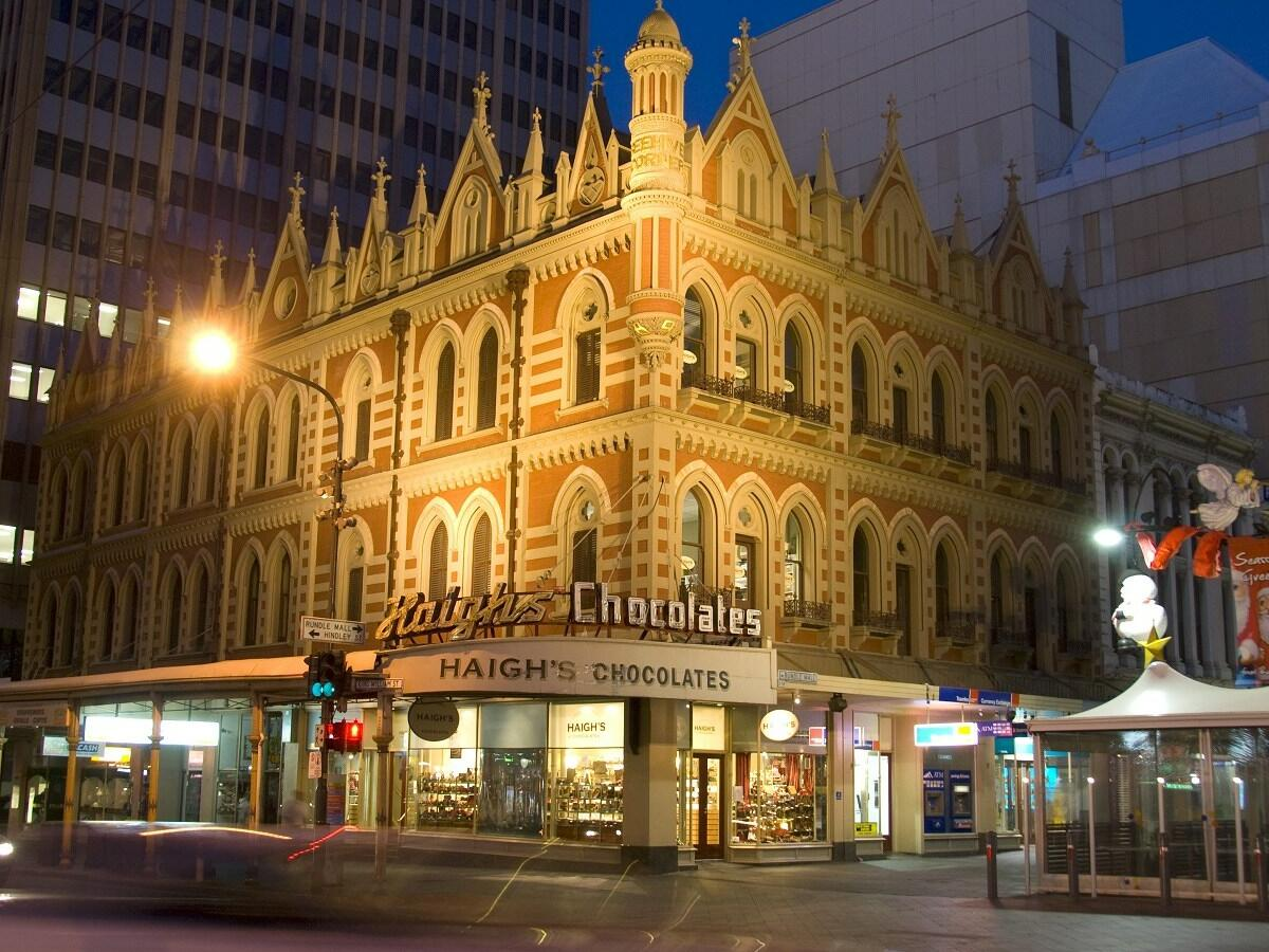 Exterior of the Haigh's Chocolate Visitor Centre at Adelaide