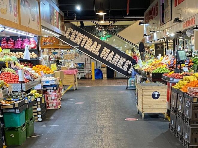 Fruits shops at Adelaide Central Markets