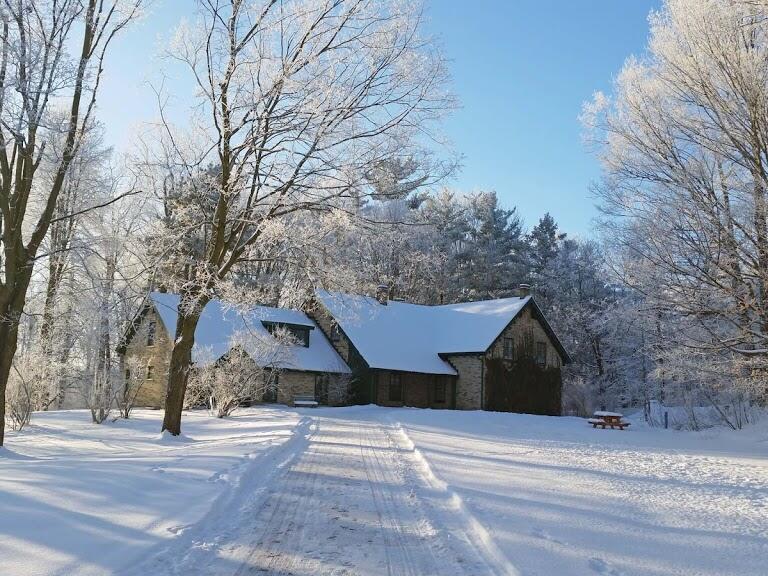 the winter Woodside historic site near The Inn of Waterloo