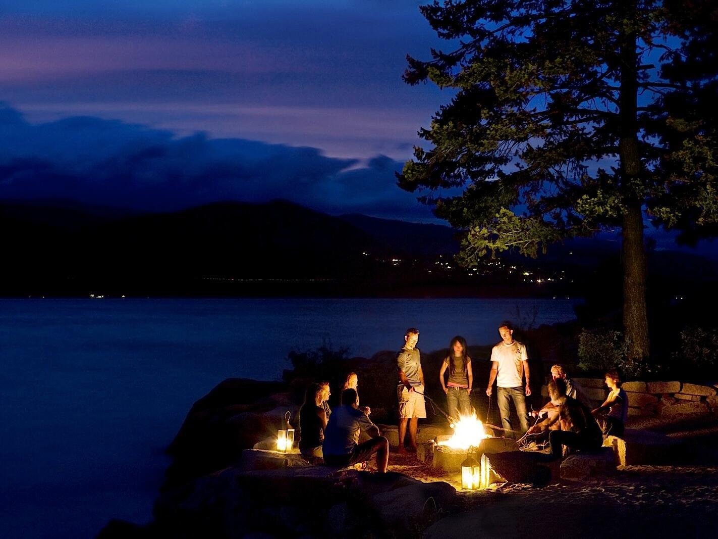 Camping at Okanagan Lake near Outback Lakeside Vacation