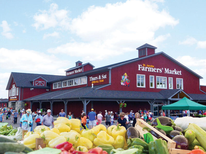 view of the St Jacabs Farmers Market near The Inn of Waterloo