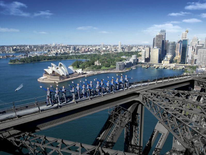 Aerial view of Story Bridge climb near George Williams hotel