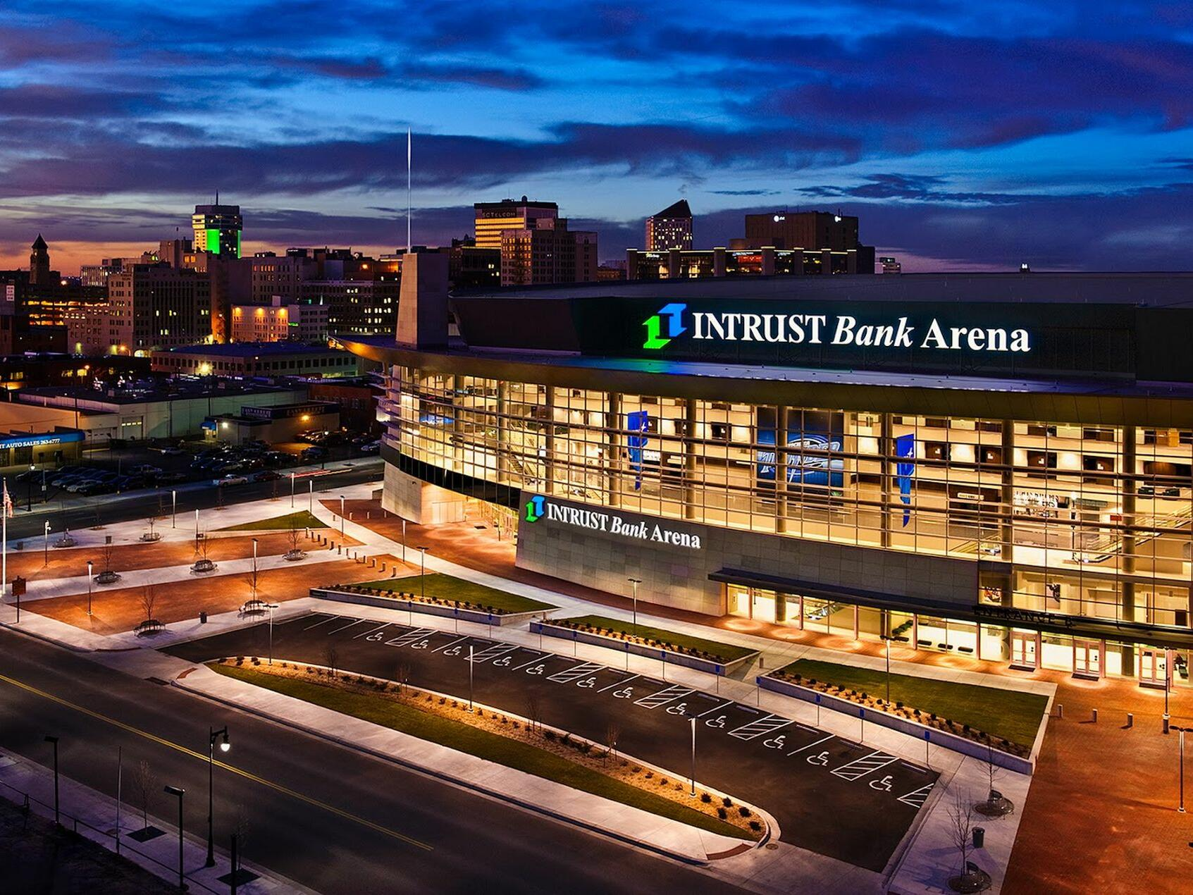 Exterior view of Intrust Bank Arena near Hotel at Old Town