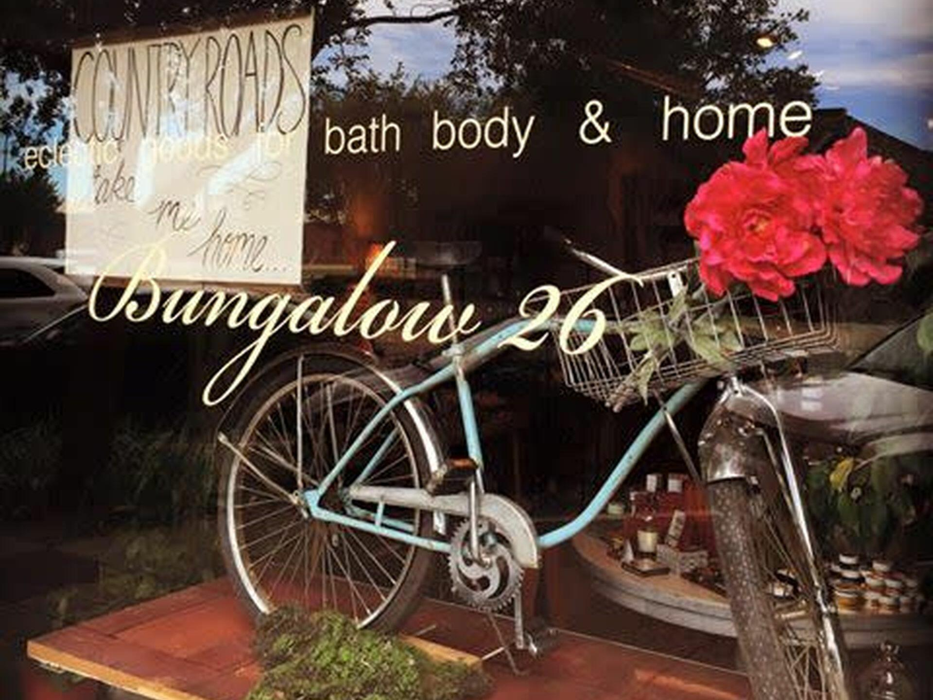 Window shopping at Bungalow 26 near Hotel at Old Town Wichita