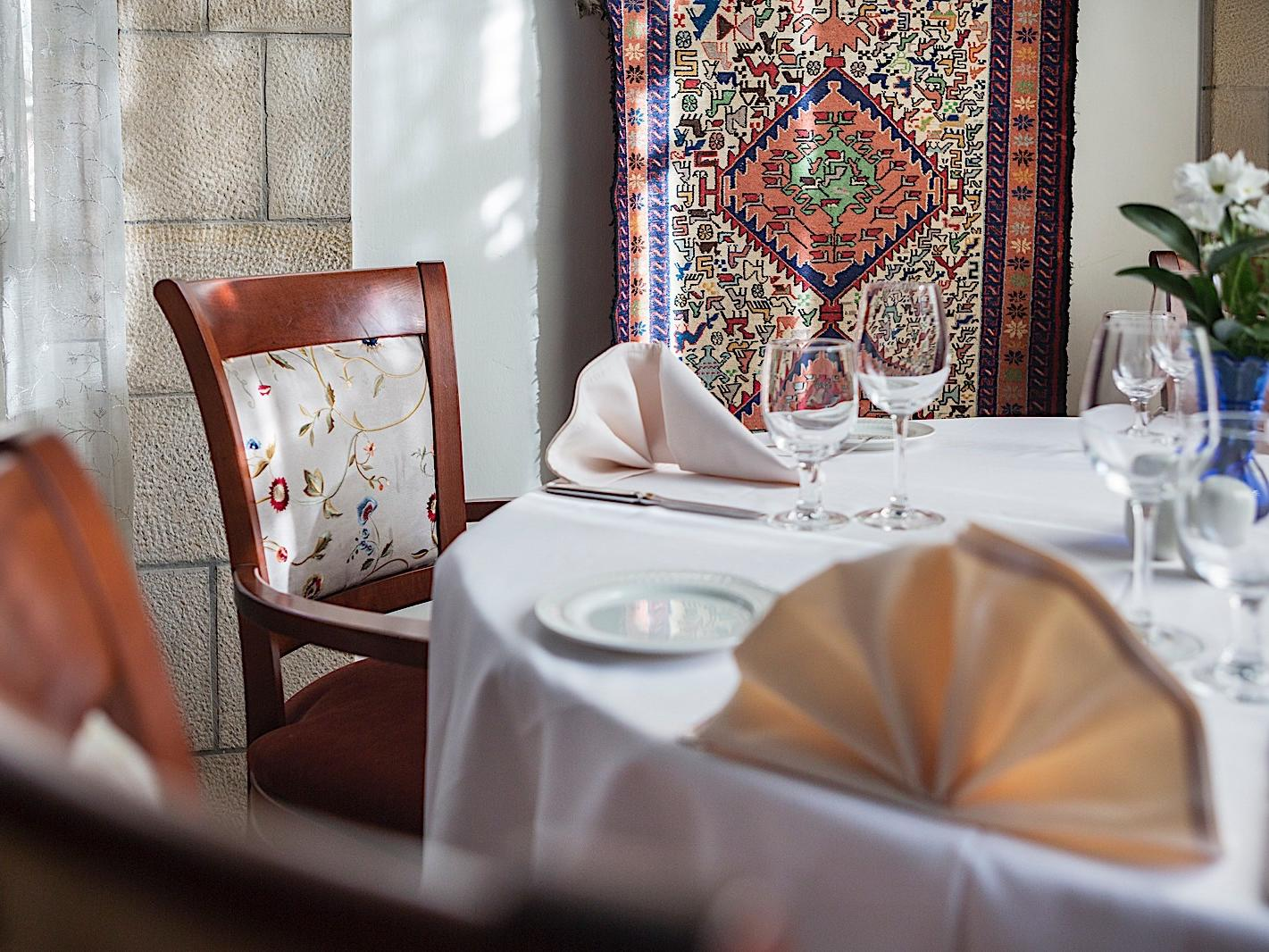 The Arabesque Restaurant at The American Colony Hotel in Jerusalem