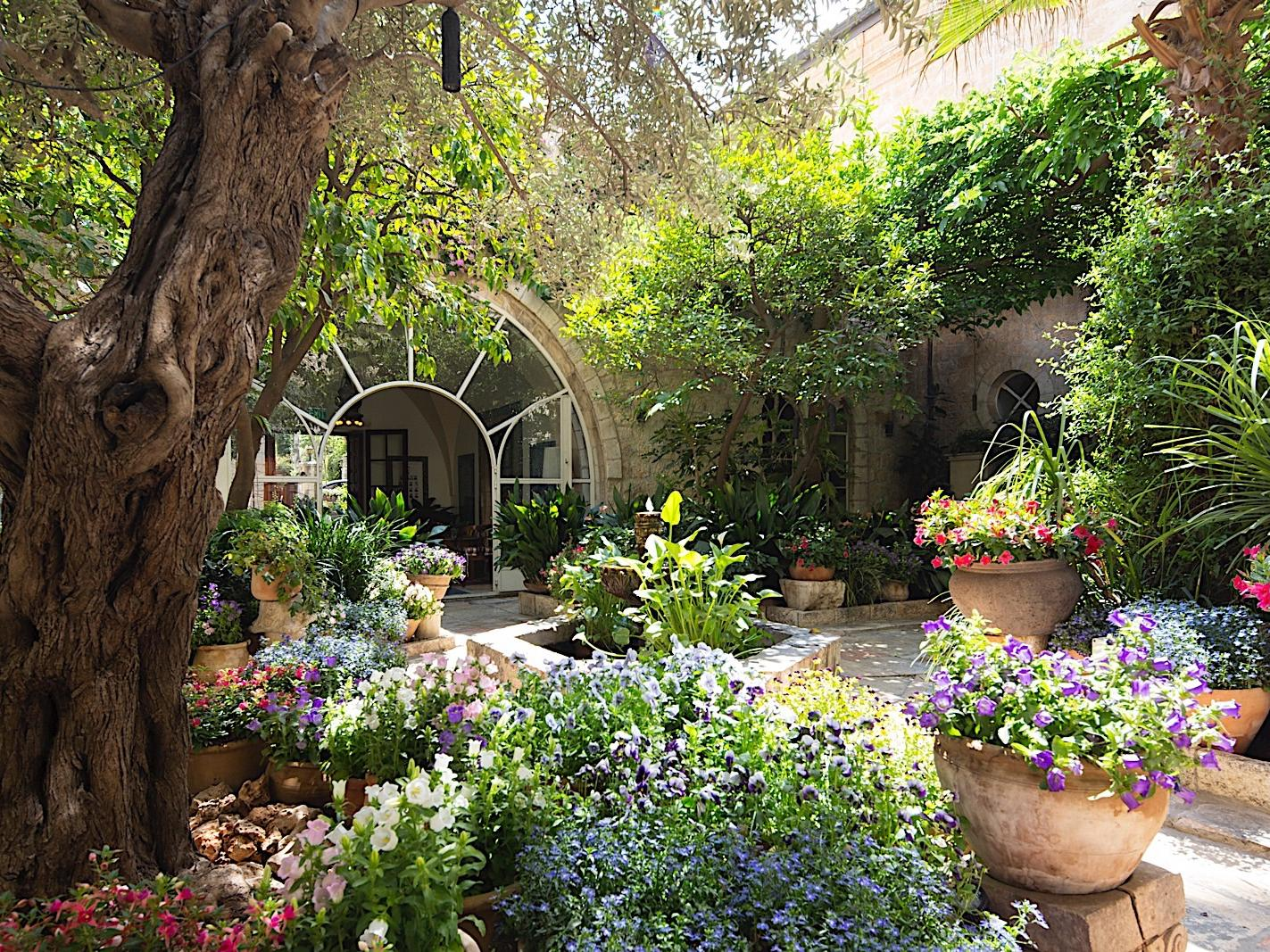 The Courtyard at The American Colony Hotel in Jerusalem
