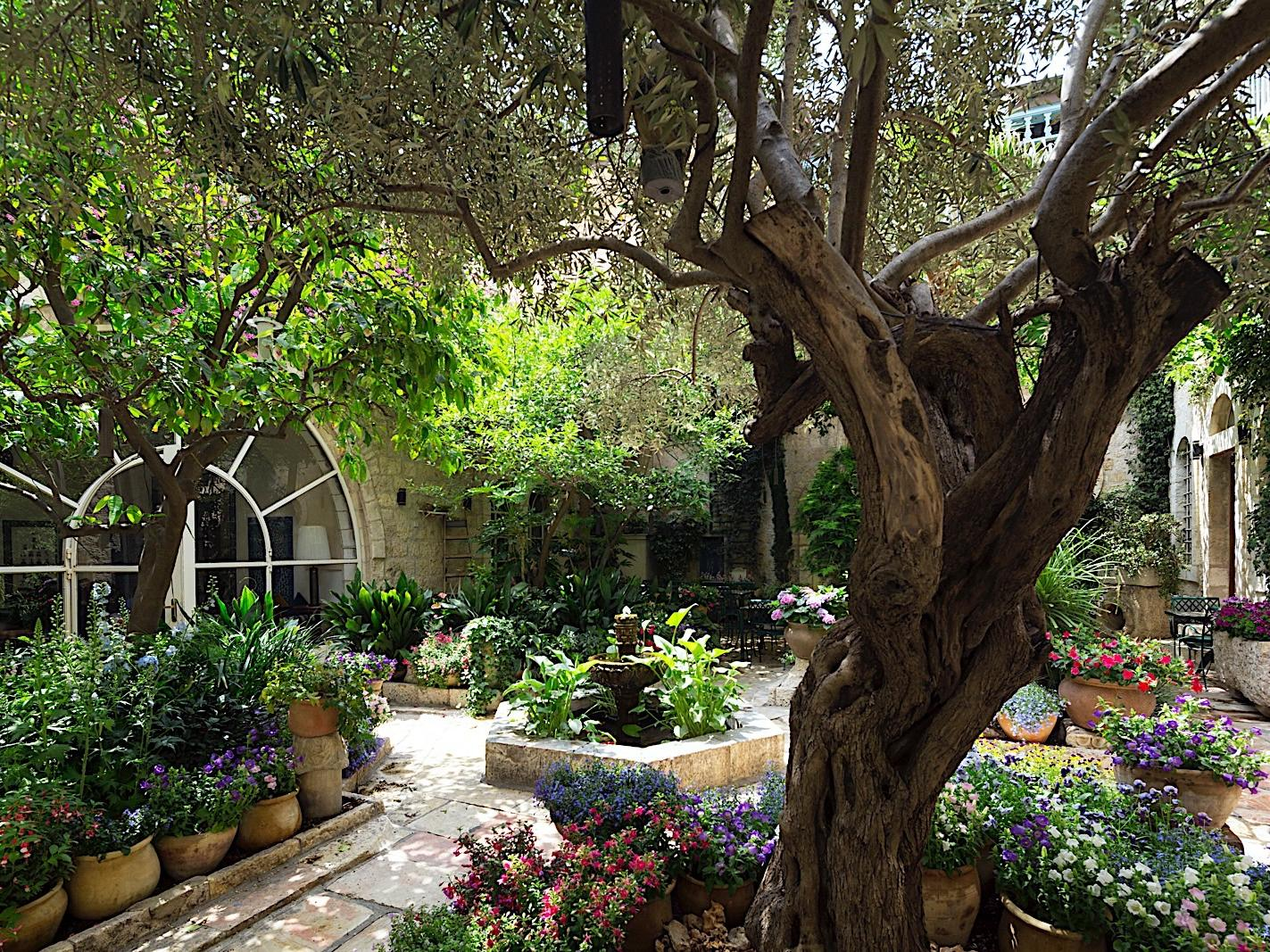 Courtyard at The American Colony Hotel in Jerusalem