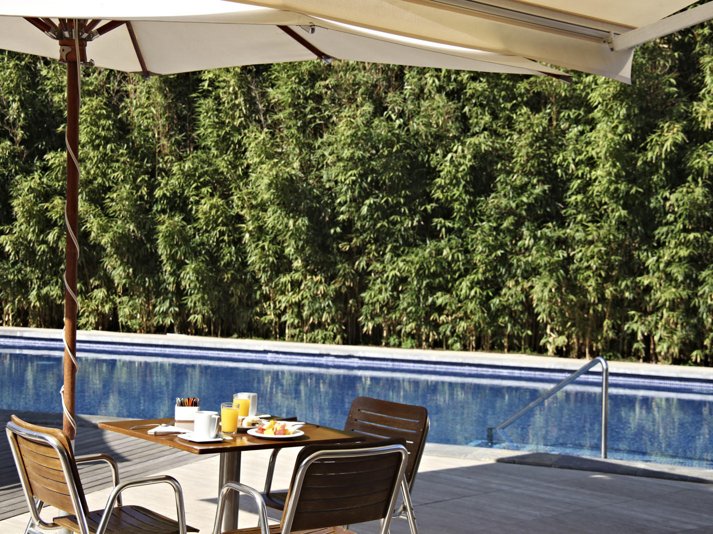 Pool at Aimia Hotel in Port de Sóller, Majorca