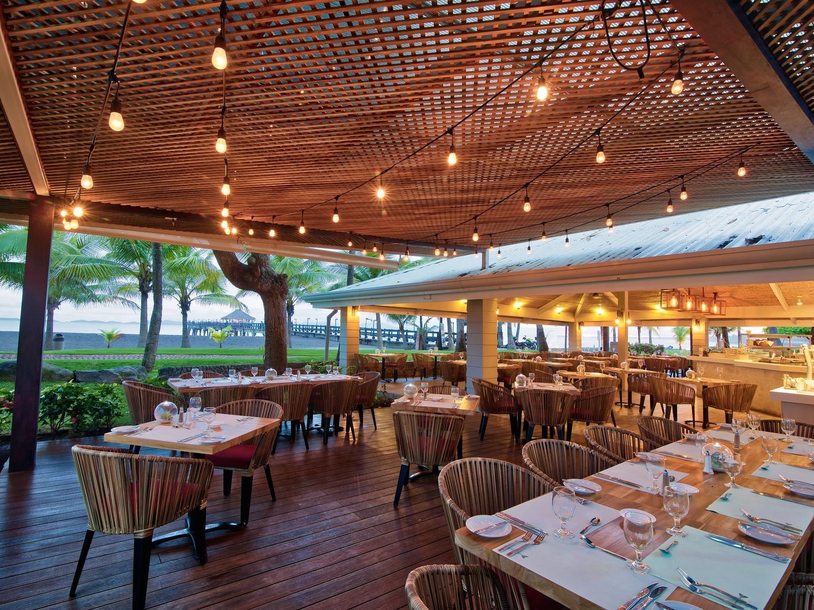 Beautiful wood furniture with dining at Fiesta resort