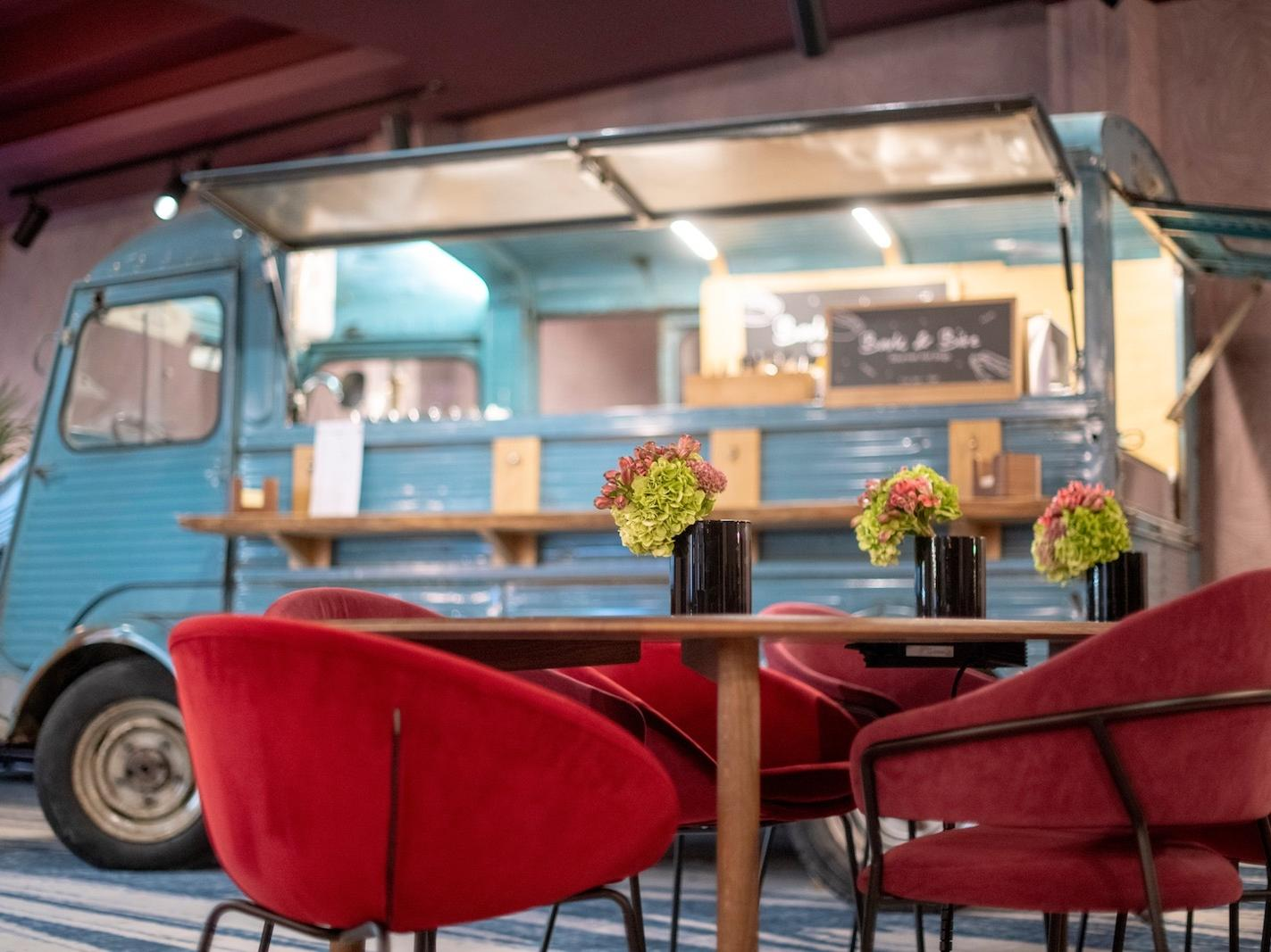 Food truck at Hotel Hubert Brussels near Grand Place