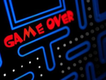 pacman game that says game over