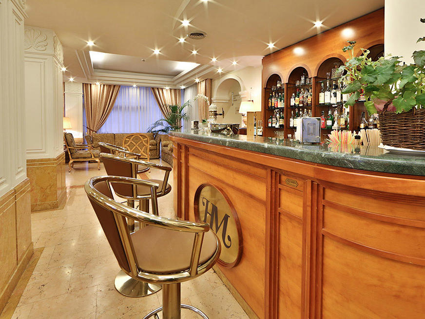 Bar at Hotel Mozart in Milan