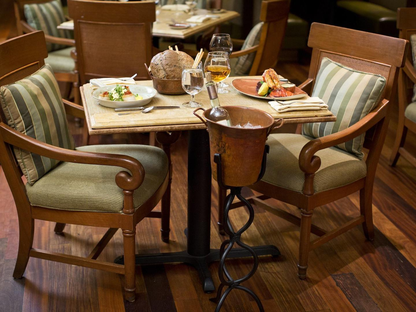 Table set for two at Capriccio Grill
