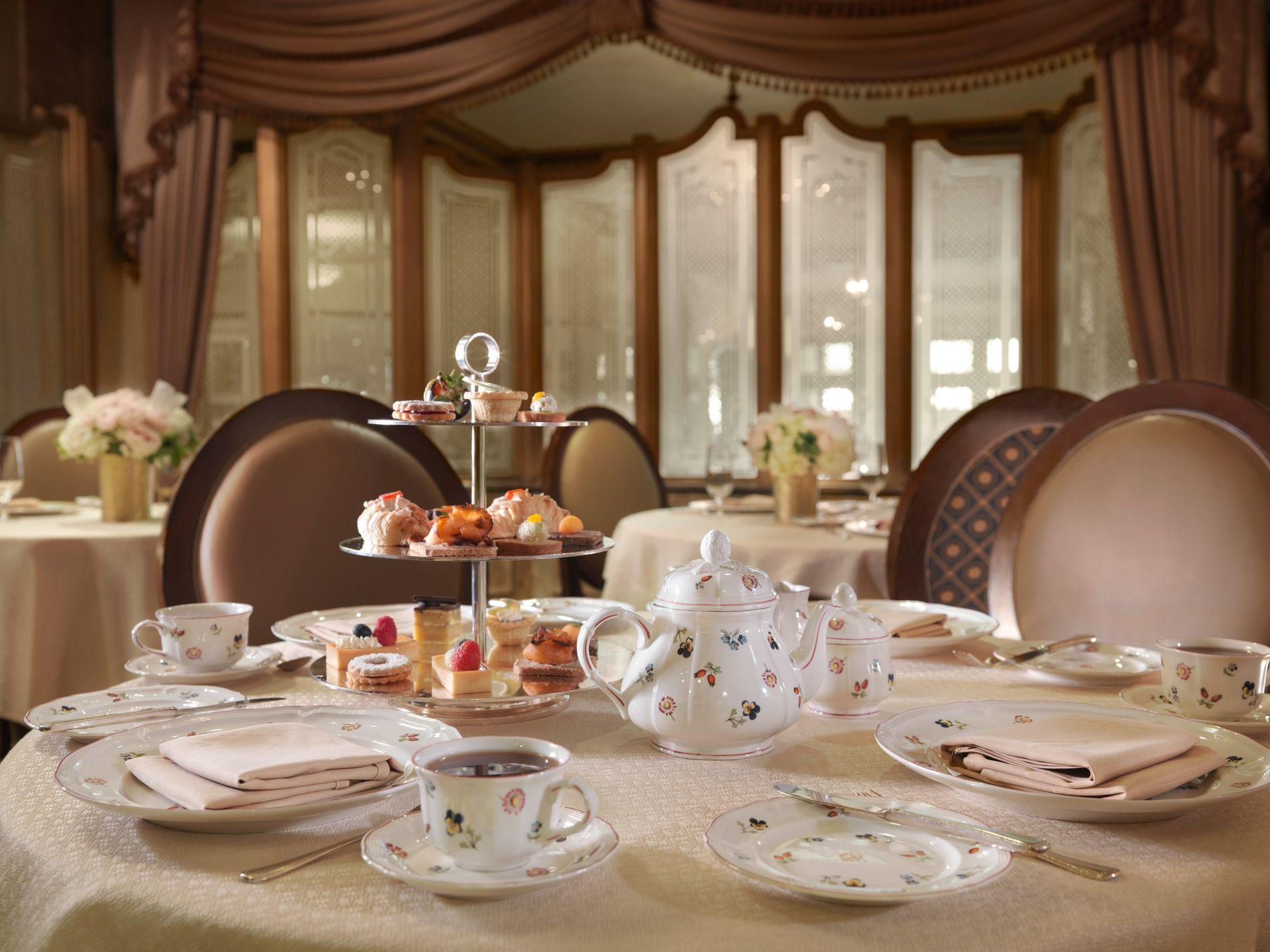Table set with Afternoon Tea