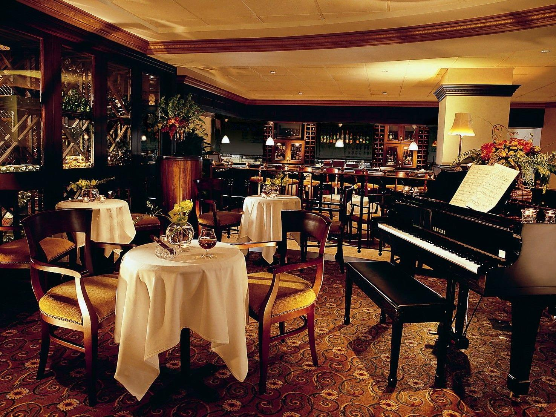 Peabody Corner Bar Interior with piano