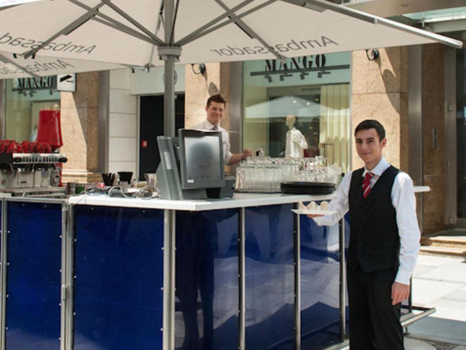 Open air cafe at Ambassador Vienna Hotel