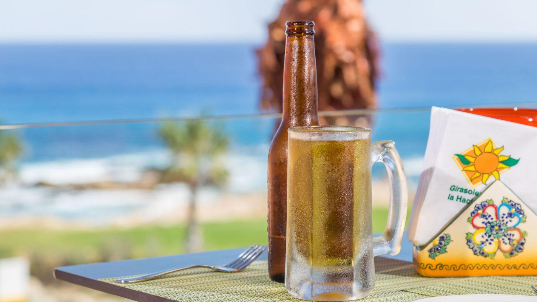 Drinking Beer with an Ocean View