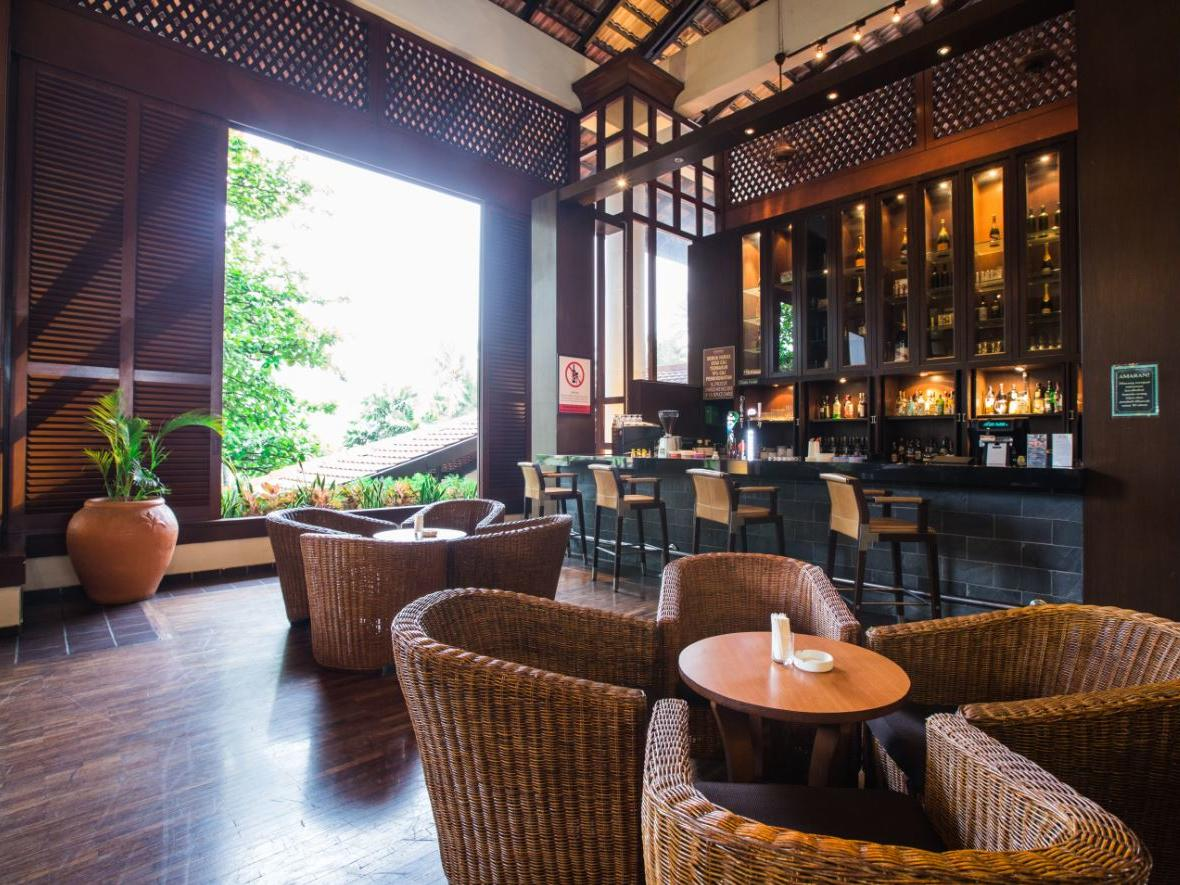 A view of  Bayu Lounge comfortable dining table at The Saujana Hotel Kuala Lumpur