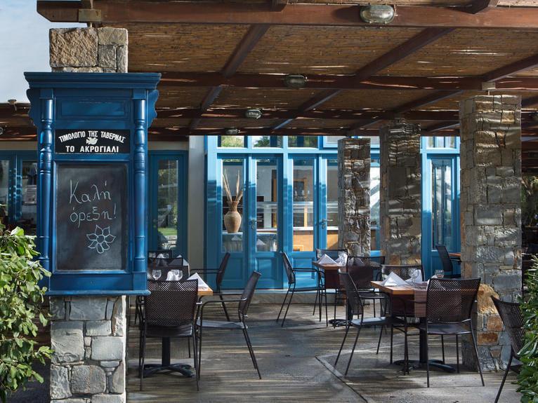 Taverna Akrogiali at Agapi Beach Resort in Crete, Greece