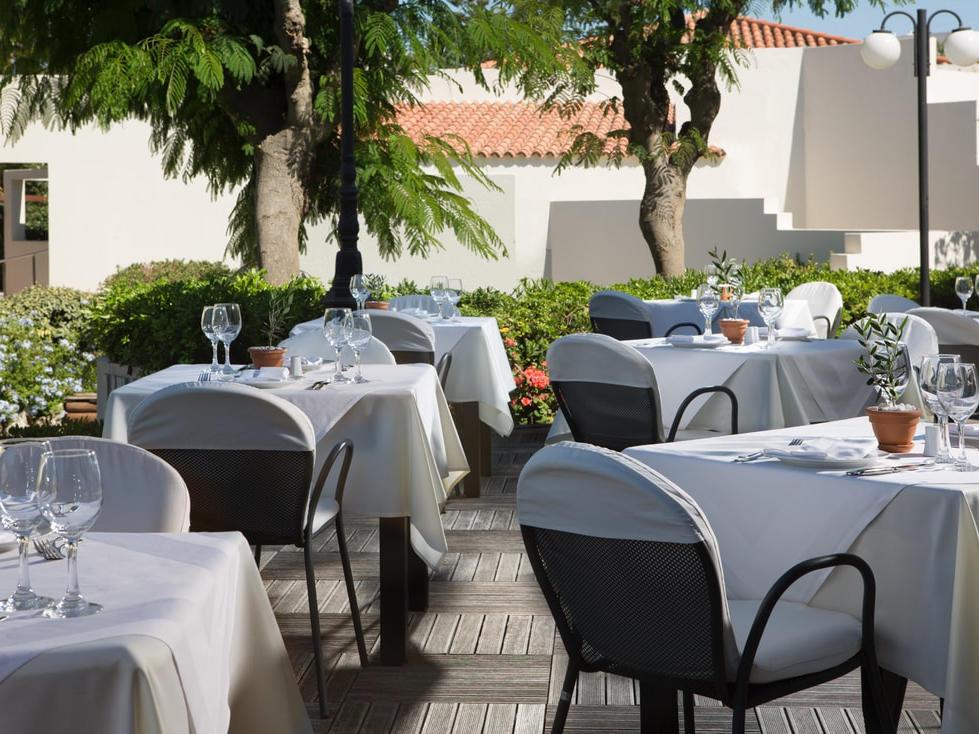 Piazza d'Italia Restaurant at Agapi Beach Resort in Crete, Greece