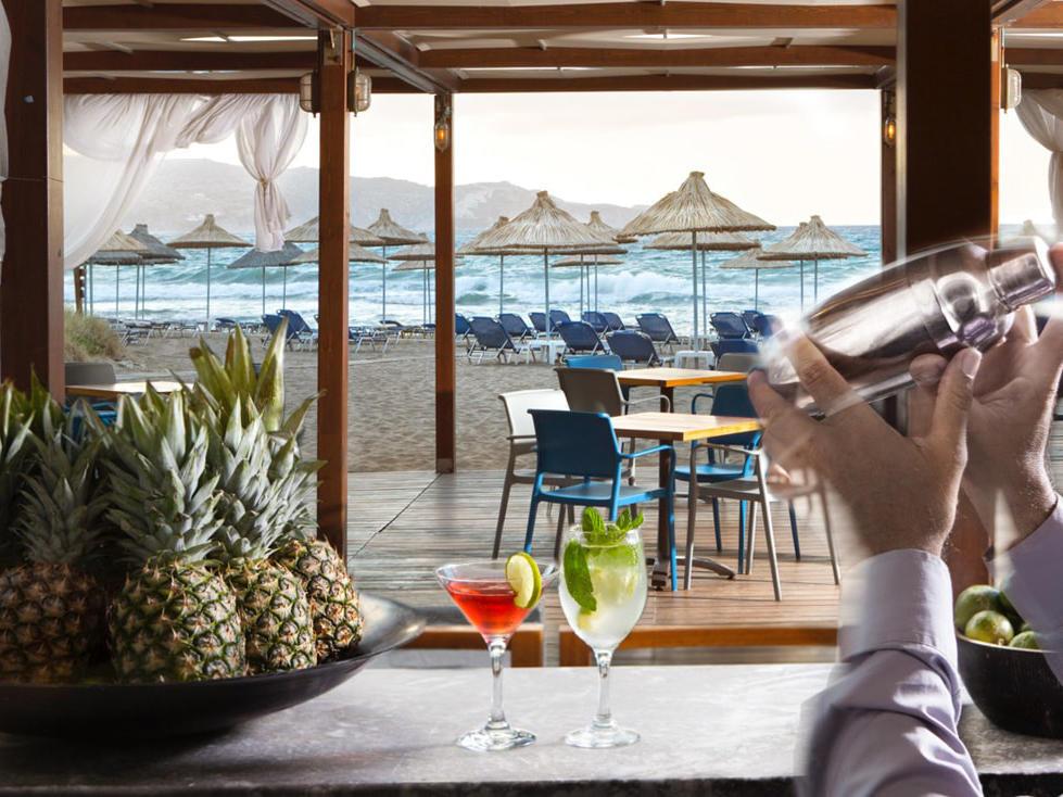 Beach bar at Agapi Beach Resort in Crete, Greece