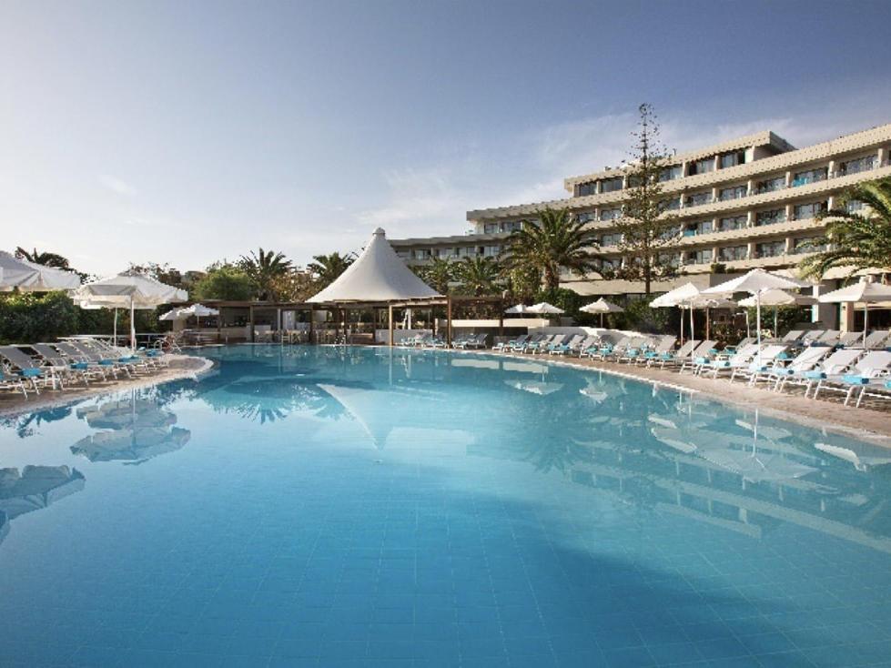 Pool at Agapi Beach Resort in Crete, Greece