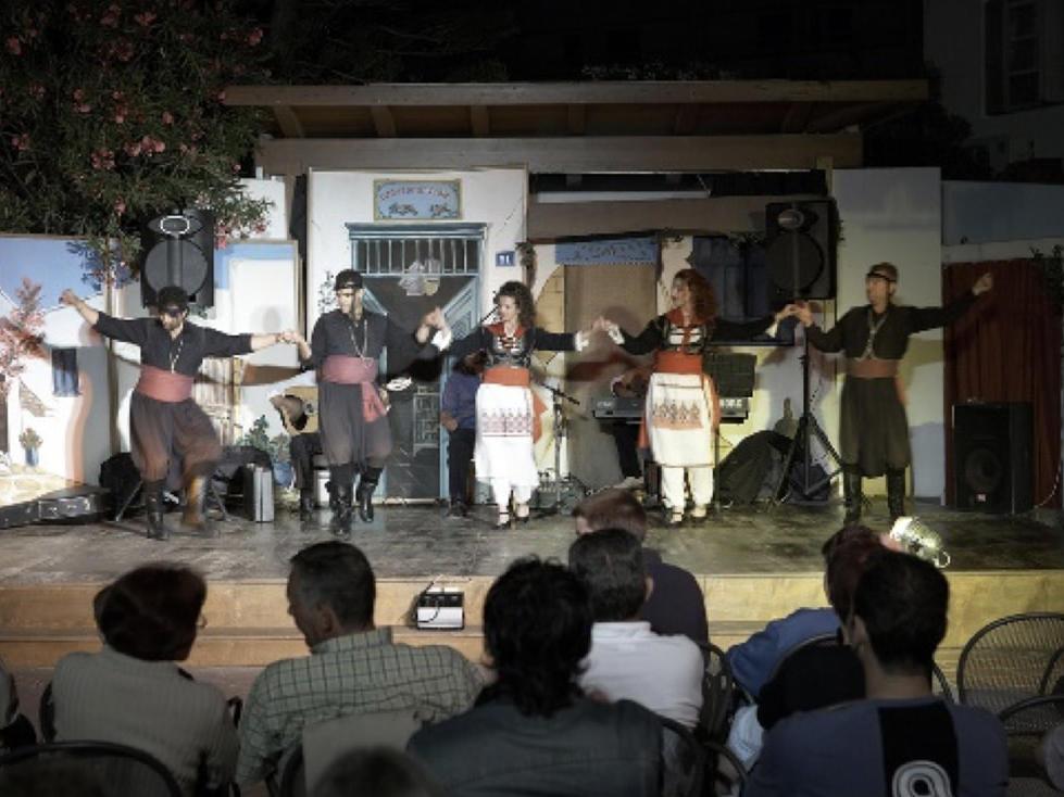 Theater at Agapi Beach Resort in Crete, Greece