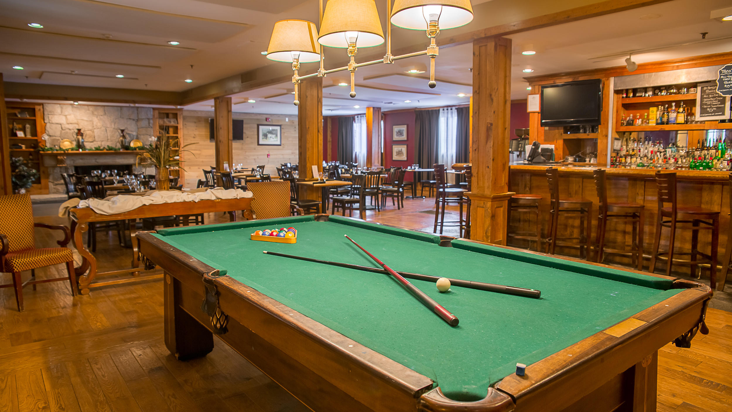 Billiards table at The Tavern