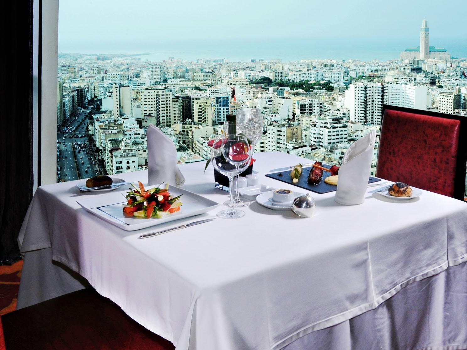 Restaurant at Kenzi Tower Hotel in Casablanca, Morocco