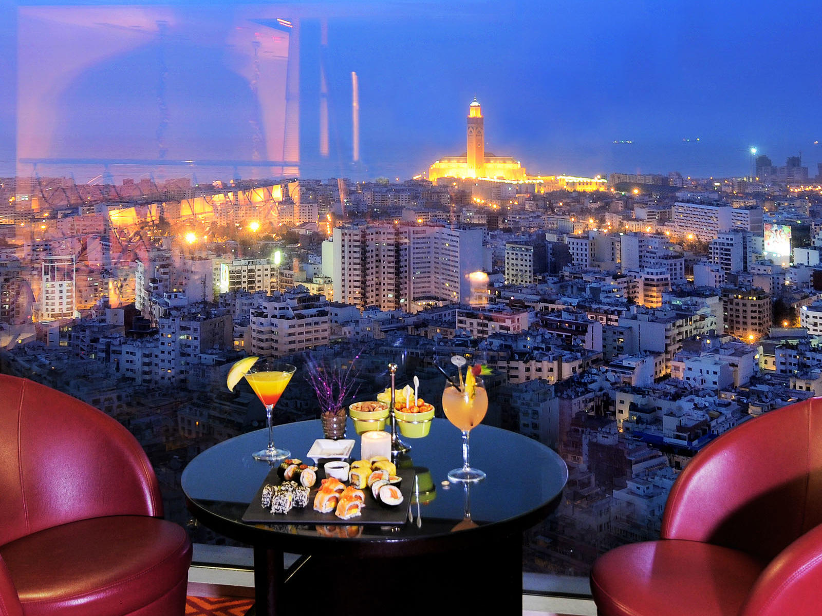 Sky 28 Bar at Kenzi Tower Hotel in Casablanca, Morocco