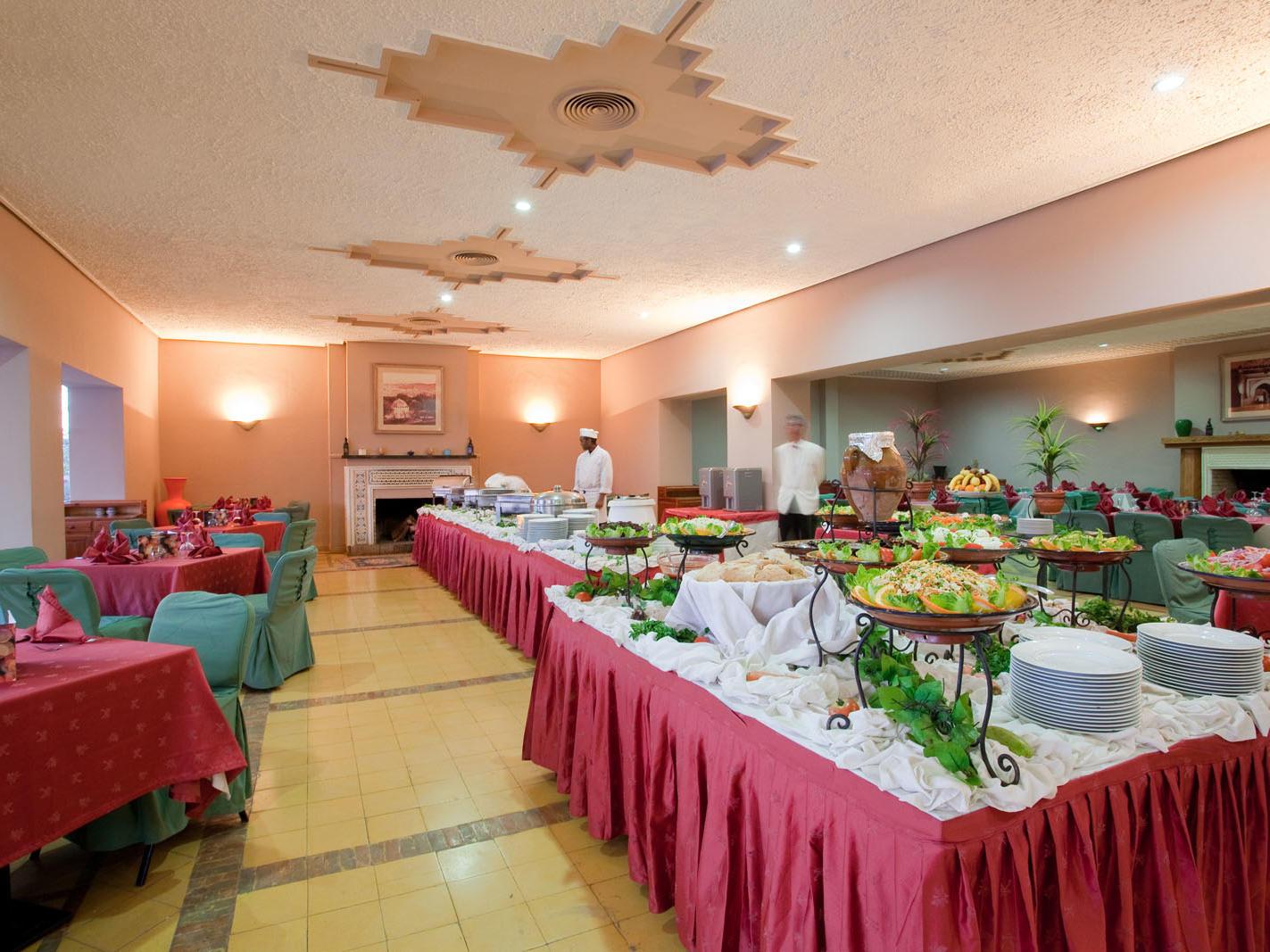 Restaurant at Kenzi Azghor Hotel in Ouarzazate, Morocco