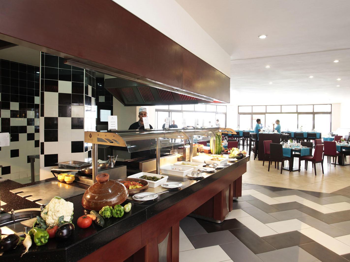 Buffet at Kenzi Europa All Inclusive Hotel in Agadir, Morocco