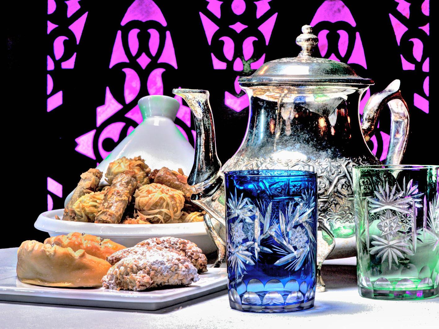 Tea at Kenzi Solazur Hotel in Tangier, Morocco