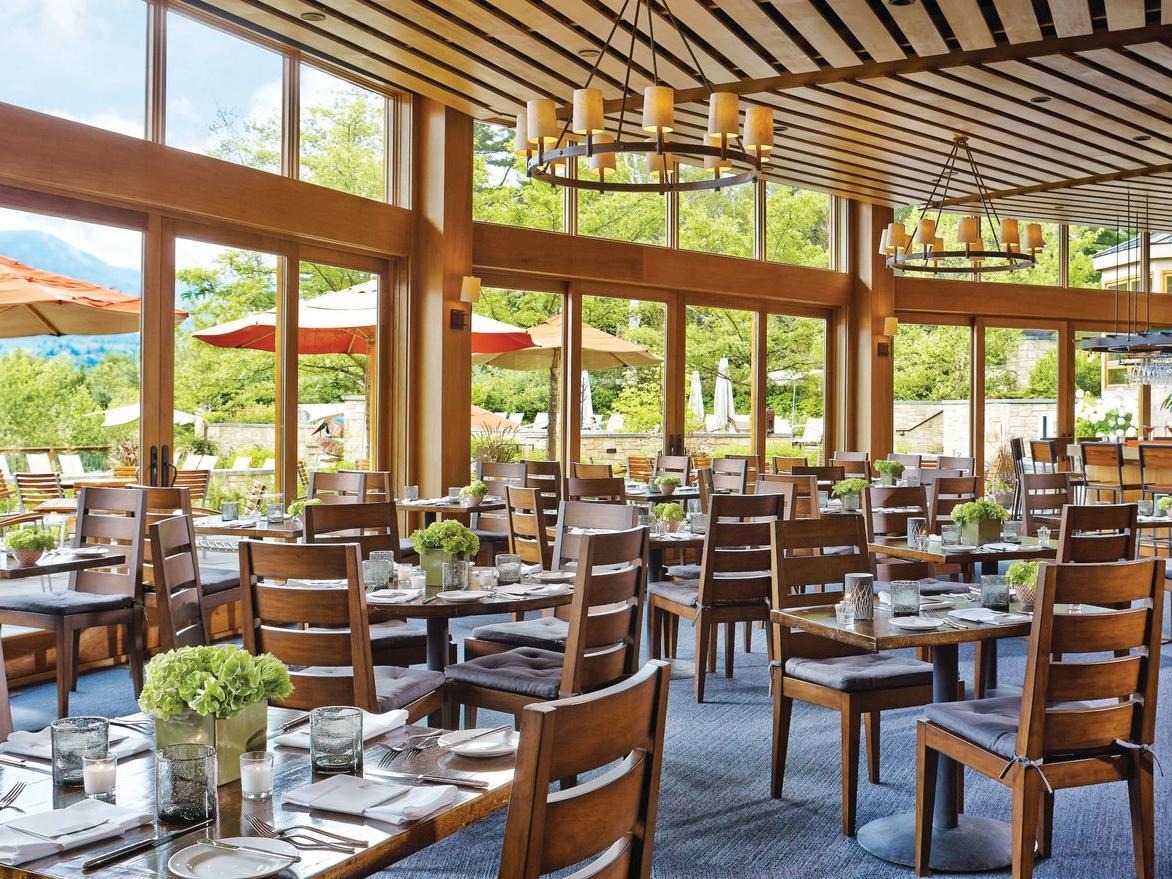 Restaurant seating.