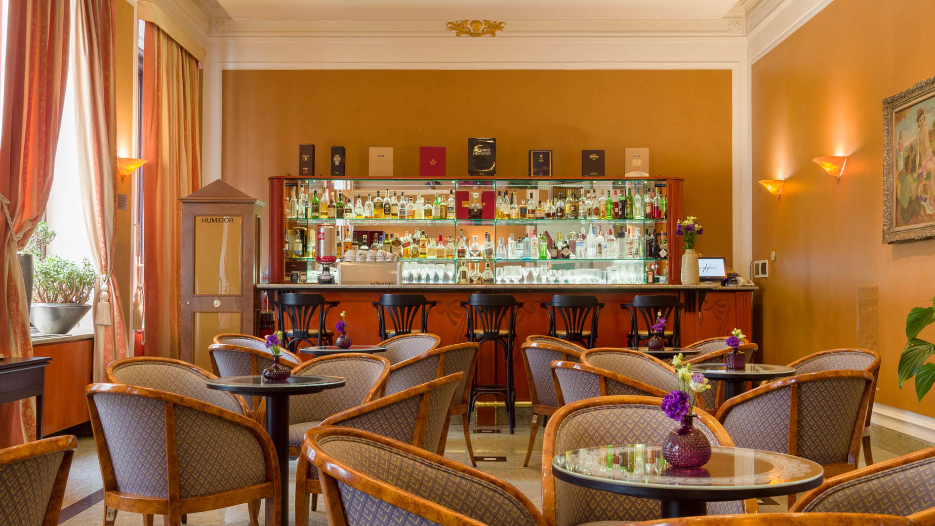Lobby bar at Grand Hotel Union in Ljubljana
