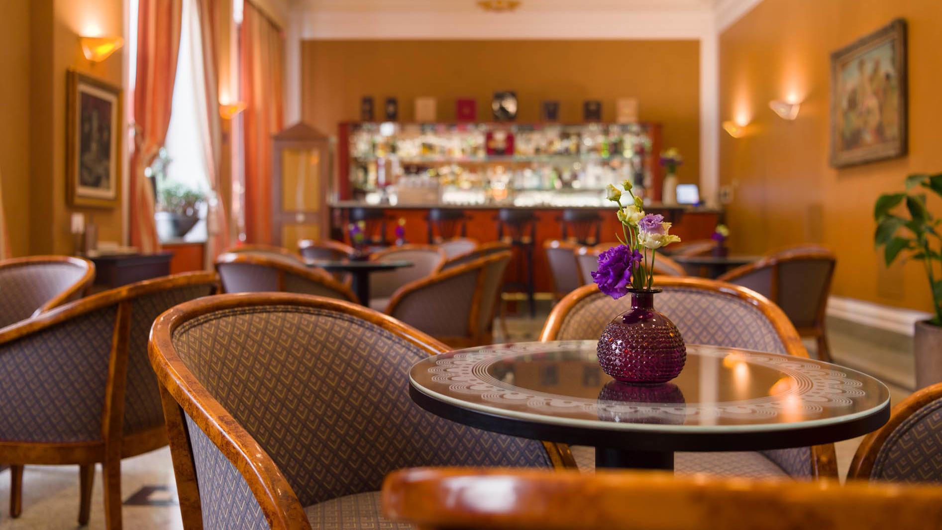 Lobby bar at Uhotel in Ljubljana