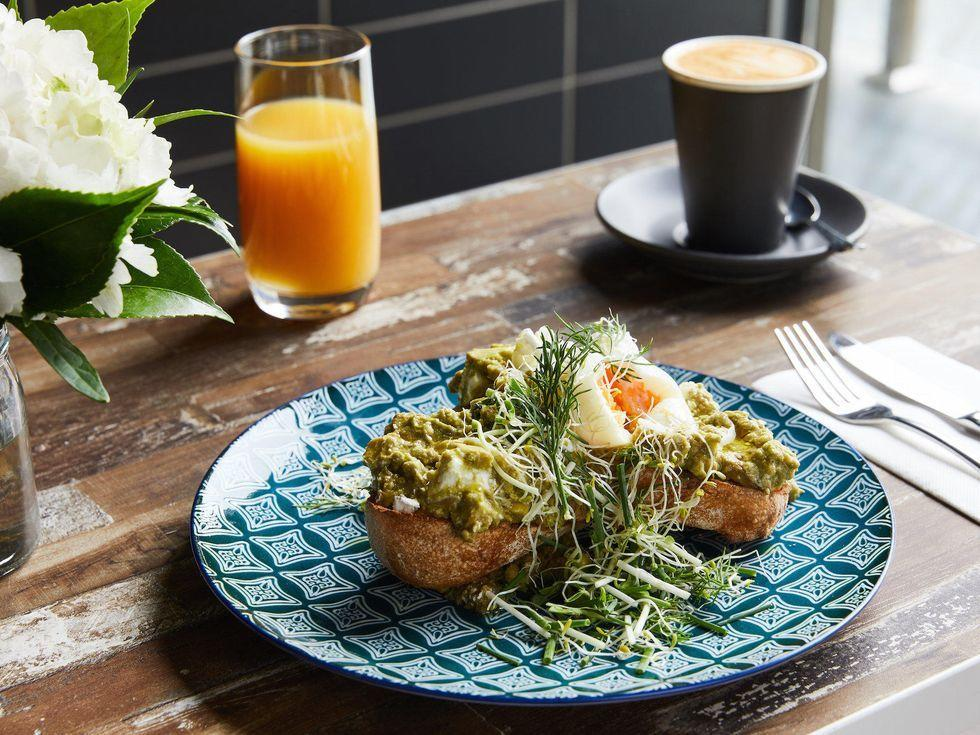 Smashed avocado breakfast at Brady Hotels Central Melbourne