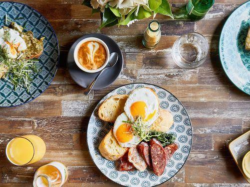 Breakfast items at Brady Hotels Central Melbourne